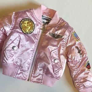 Pink Flight Jacket ✈️ Size 24M